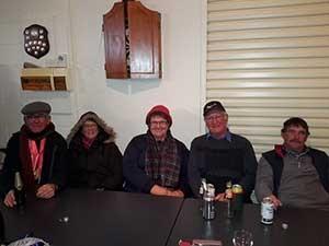 South Australian Yard Dog Association members at the presentation of awards for the 2015 Australian Yard Dog Championships held at Ross, Tasmania L to R: Rex Hocking, Kay Hocking, Bev Kellock, David Kellock, Robert Copping.