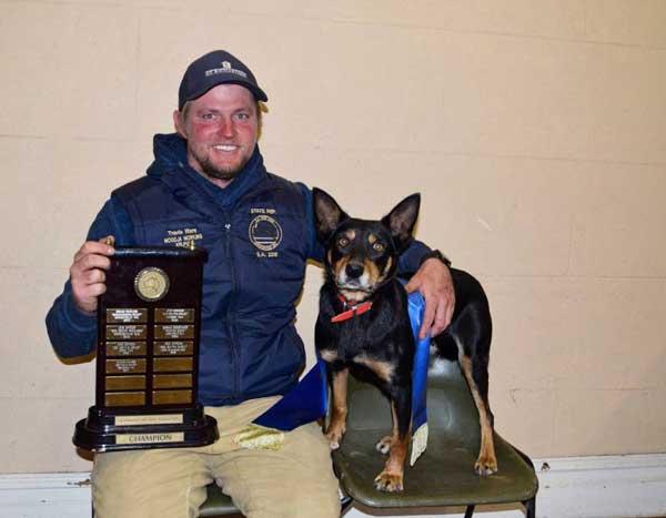 Travis Ware winner of the Australian Yard Dog Assoc. Championship in WA