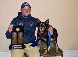 Lucindale-based Travis Ware, and his dog Lacey
